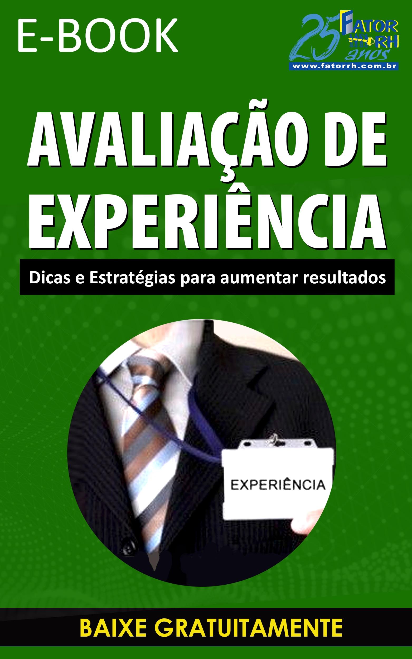 E-book Avaliação de Experiência - Baixe Gratuitamente